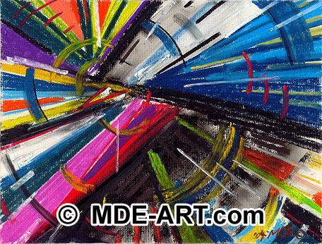 Abstract Art, Colorful Pastel Drawing