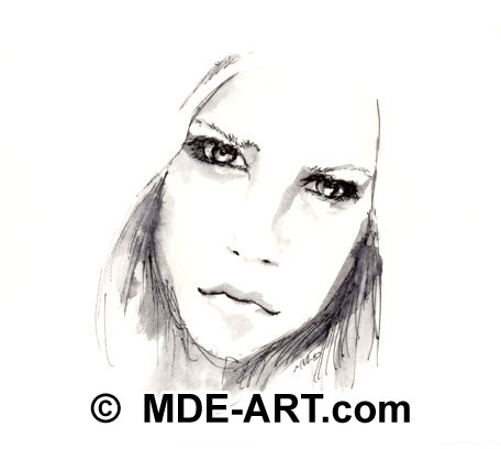 "Avril Lavigne ""Fan Art"" Drawings"