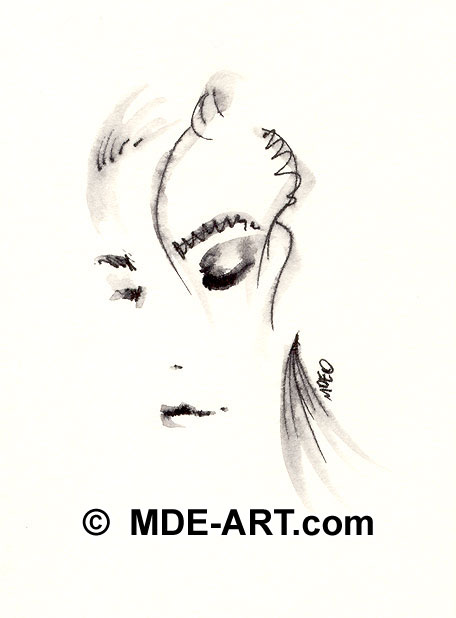 Sharp Eyes Drawing Abstract Woman Drawing Female