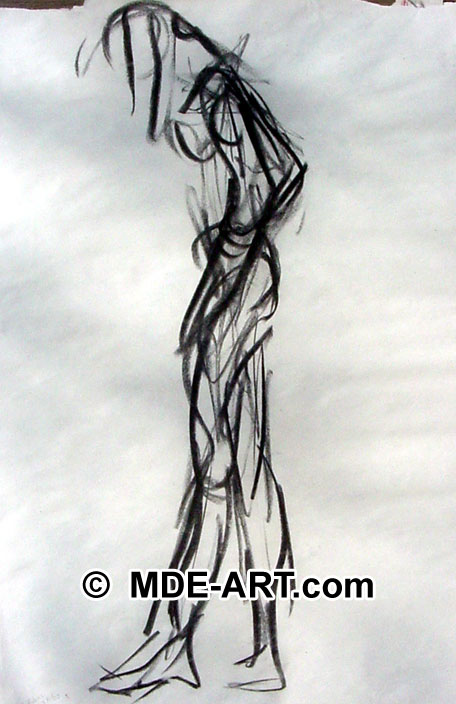 Gesture Drawing with Charcoal