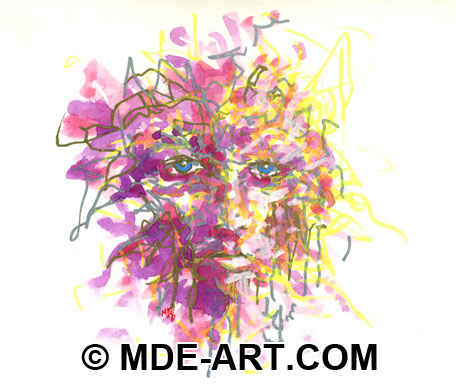 Abstract Art, Drawing of a Face