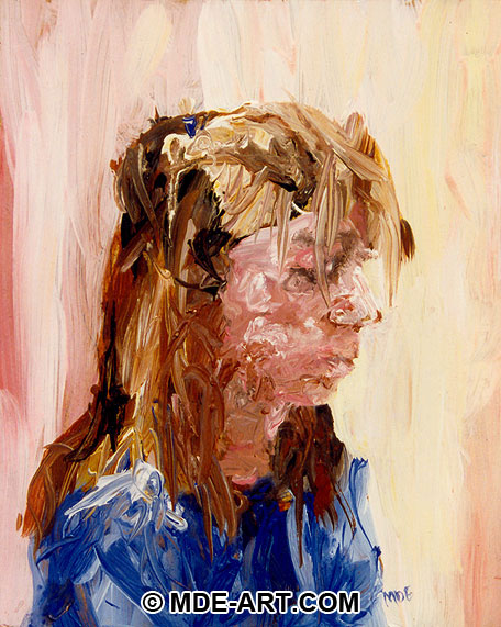 Acrylic Portrait Painting of a Girl or Woman