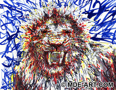 A Painting of a Lion