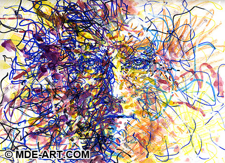 Abstract Art Face - Impressionistic Drawing and Painting of an Head