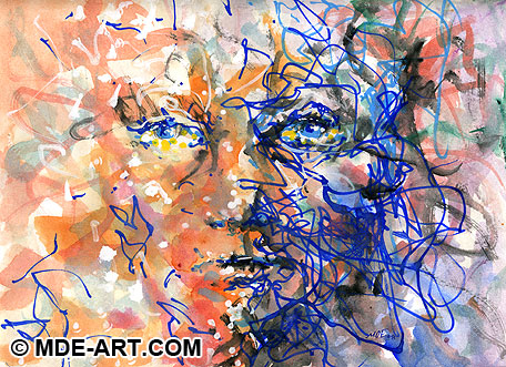 Abstract Art - Drawing of a Face