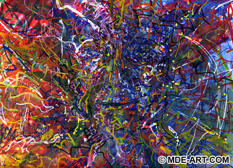 abstract artwork pictures. This abstract painting of a