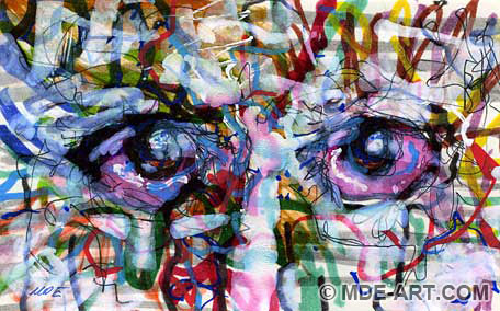 Expressive Drawing of Eyes