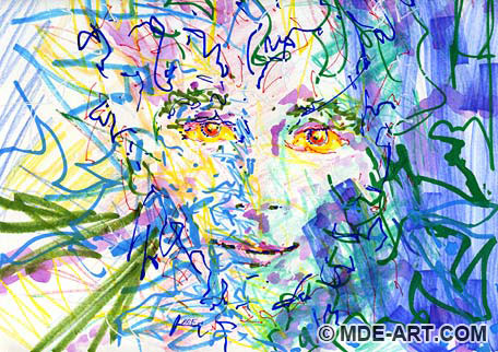 How to Paint and Draw a Face Colorful and Abstract