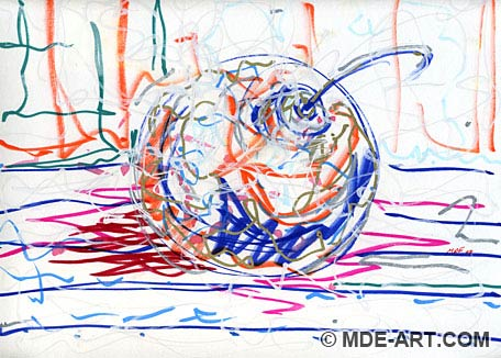 Abstract Drawing of a Christmas Ornament