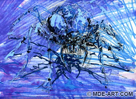 Abstract Drawing of a Spider