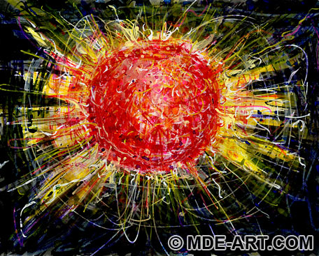 Drawing of the Sun