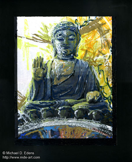 A Drawing and Painting of Tian Tan Buddha Art