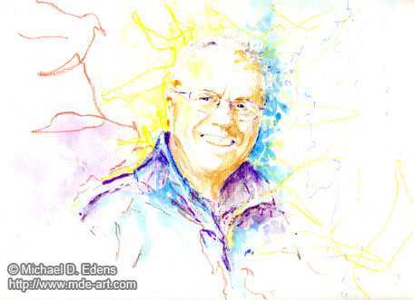 Portrait of a Man - Rainbow Color Portraits - Series 1