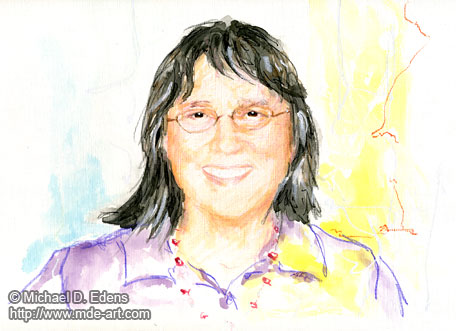 Portrait of a Woman - Rainbow Color Portraits - Series 1