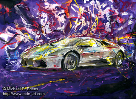 Lamborghini Reventon | Painting and Drawing of a Car