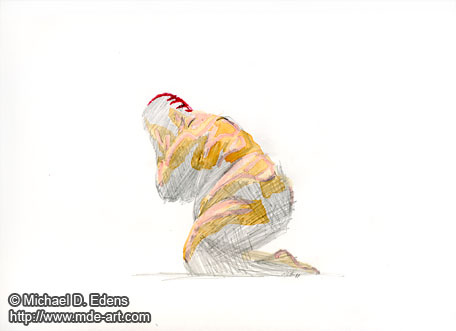 Drawing of a Fat Person - Overcome