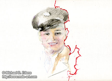 Portrait Drawing of a Young Man with a Hat