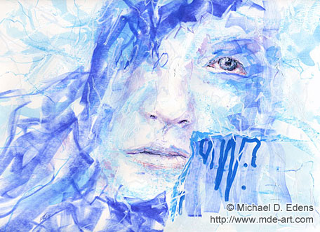 Blue Woman | Abstract Portrait