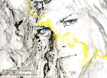 Lightning | Abstract Portrait Painting of a Girl