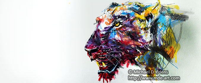 Lioness Painting